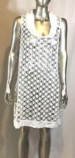 NWT Women's Dolcezza White Mesh Cover up Size XL Retail $169.00