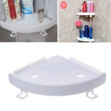 Bathroom Corner Shelf Triple Wall Corner Holder Mount Storage Non-Marking Shelf