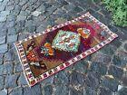 Vintage Turkish small rug, Handmade wool rug, Doormats, Decor rug | 1,5 x 2,9 ft