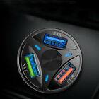 3 Port USB Car Charger Adapter LED Display QC 3.0 Fast Charging Car Accessories