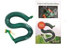 Nuevo Blade 15 M Bobina De Manguera De Jardín con Cabeza De Aerosol Ajustable Verde Ajustable