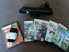 Xbox 360 Kinect with large Kinect game bundle/joblot - active heart rate monitor