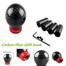 65mm Black Carbon Fiber Ball Manual Car Gear Shift Knob Shifter Lever Universal