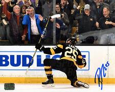 Brandon Carlo Boston Bruins Signed Autographed Goal Celebration on Knee 8x10