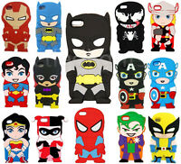 3D Cute Cartoon Super Hero Rubber Soft Back Case Cover For iPhone 5s 6 6s 7 Plus