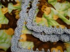 "Handmade Baby Boys Blue Fleece Jungle Animal Monkeys Blanket 30"" x 38"" Monkey"