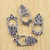 20pcs Tibetan silver Ornate floral Link charms h0335