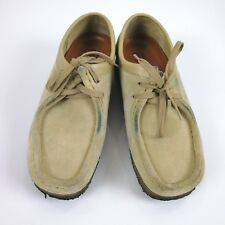 fc702b11f9ff3e Clarks Originals Wallabee Beige Suede Casual Moc Toe Shoes Women s ...