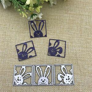 Rabbit Metal Cutting Dies Stencil DIY Scrapbooking Album Paper Card Embossing Y