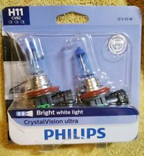 pack of 2 Headlight Bulb-CrystalVision Ultra - Twin Blister Pack Philips H11CVB2