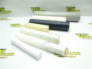 LOT OF 7PC ASSORTED MACHINABLE PLASTIC ROUND STOCK TEFLON PVC DELRIN NYLON