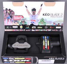 Look Keo Blade 2 Carbon cromo road bike pedals 16nm Proteam Pair w/ Grey Cleats