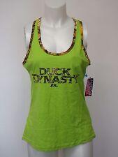 Women Tank Top Muscle Shirt X Large Duck Dynasty Green Camo Trim