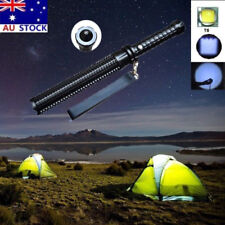 Zoom Flashlight LED Rechargeable Torch Lamp Emergency Security Defense Tool AU