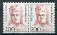 Bund 1498 postfrisch waagerechtes Paar BRD Frauen ungefaltet MNH