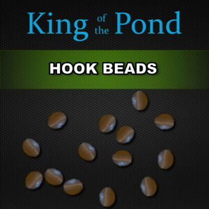 Brown hook beads x20 - carp fishing, carp rigs