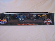 1999 Hot Wheels Collectibles Rumble Road Harley Davidson Set