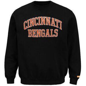 Cincinnati Bengals NFL Mens Backfield Crew Neck Sweatshirt Big & Tall Sizes