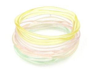 """144 Piece Extra Large 3"""" Diameter Glow in the Dark Jelly Bracelets #B1120-144"""