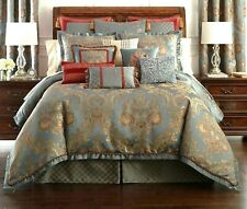 NEW Set of 2 $140 WATERFORD Dunham King Sham Pillow Covers Glacier Blue NIP