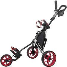 3 Wheel Push Buggy by Caddytek / Incontro Sports - Black / Red
