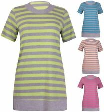 Viscose Short Sleeve Machine Washable Striped Tops & Blouses for Women