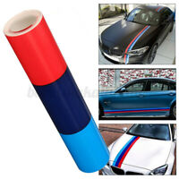 60'' M Color Stripes Rally Side Hood Racing Motorsport Decal Sticker for BMW !