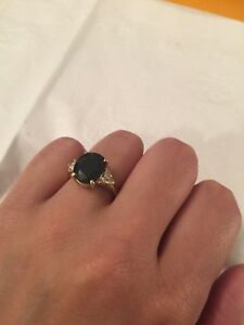 Sapphire Golden Ring