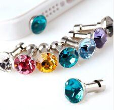 2 X Phone Diamond Protective Cap Dust iPhone 4, 5, 6 6s, 7 8 Many Colours