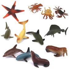 12pcs Assorted Mini Plastic Ocean Sea Animal Toy Set Animals Model Toys