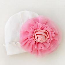 Bebé Recién Nacido Sombrero Grande Flor Casquillo Hospital Gorro Gorrita Tejida