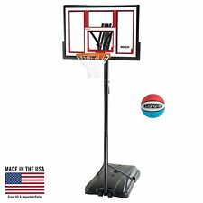 Basketball Hoop Adjustable Portable Shatter-Proof Rubber Basketball Included New
