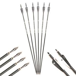 6pcs  30inch Aluminum Shaft Archery Replaceable tip Arrows arow F Recurve Bow
