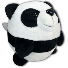 "5"" Black And White Round Panda Soft Plush Stuffed Animal Toy Suction Cup New"