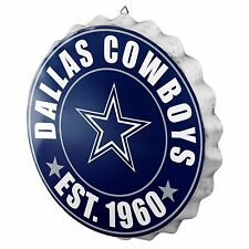"Dallas Cowboys Bottle Cap Sign - Est 1960 - Room Bar Decor NEW 13.5"""