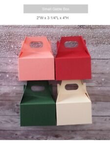 Small Gable Boxes: 12 Paper Treat Favor Candy Gable Boxes - Free Shipping