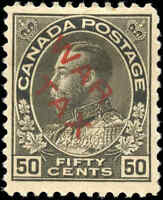 1915 Mint H Canada F-VF Scott #MR2D 50c OVERPRINTED War Tax Stamp