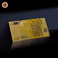 WR 200 Euro € Banknote Koloriertes Gold Geldschein Europäisches Souvenir