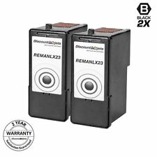 2 Lexmark 23 18c1523 BLACK Printer Ink Cartridge for Lexmark X3530 X3550 X4530
