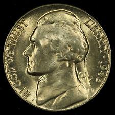 Jefferson Nickel, 1946 D Gem BU MS PQ. Lot # 058
