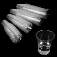 100X 7.8cm Clear Disposable Plastic Cups Cold Drink Tumbler Water Juice Party HG