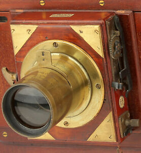 Extremely Rare J. Robinson & Son Whole Plate Brass camera Lens c. 1870