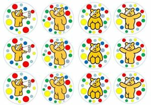 Children In Need Theme Edible Wafer Cup Cake Disc Topper