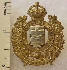 ORIGINAL WW2 Vintage CANADIAN ARMY LE REGIMENT DE JOLIETTE CAP BADGE