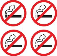 set of 4 x no smoking sticker car taxi door decal self adhesive office