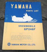 Original 1974 Yamaha GP246F Snowmobile Parts List/Manual LIT-10018-81-00 GP-246F
