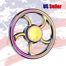 Rainbow Round Wheel Shape Fidget Hand Spinner Finger Toy EDC Focus Gyro Gift