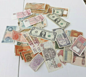 Job Lot Of Old World Banknotes. Circulated, but includes many crisp notes.