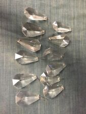 Lot Of 12 Large Glass Crystal Prisms