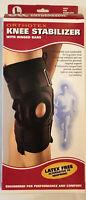 OTC Orthotex Knee Stabilizer Wrap Brace with Hinged Bars Black Large 2543 New!